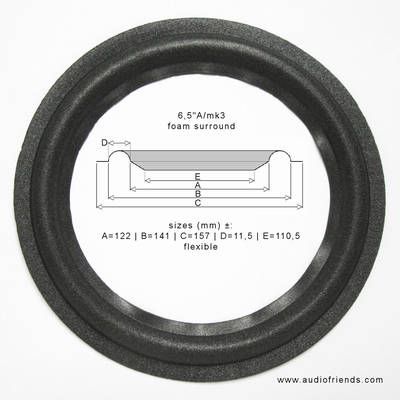 1 x Schaumstoff Sicke für JBL ATX-20 - A0906A Tieftöner