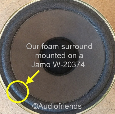 1 x Schaumstoff Sicke für Jamo Model 7.7 - 20316 Tieftöner