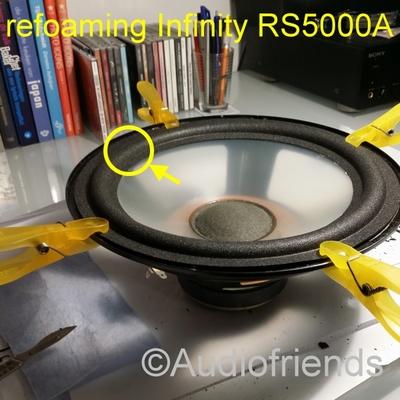 1 x Schaumstoff Sicke für Reparatur Infinity RS6000A Bass