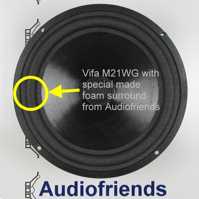 4 x Schaumstoff Sicke für Vifa M21WG Tieftöner Reparatur