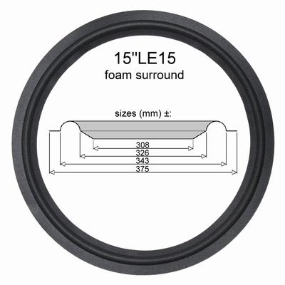 1 x Schaumstoff Sicke für 15 inch JBL LE15, LE15A, LE15B