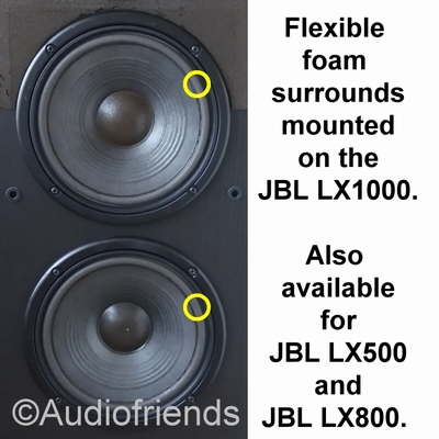 4 x Foam surrounds for JBL LX1000 - NO GLUE/BRUSH