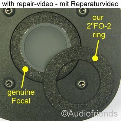 Focal TC120TDX2 - 1x Foamrand voor reparatie tweeter