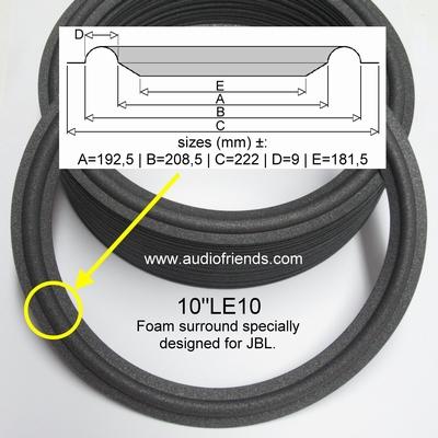 JBL PR10, LE111, LE111H, L66, L77, L96 - 1x foam surround