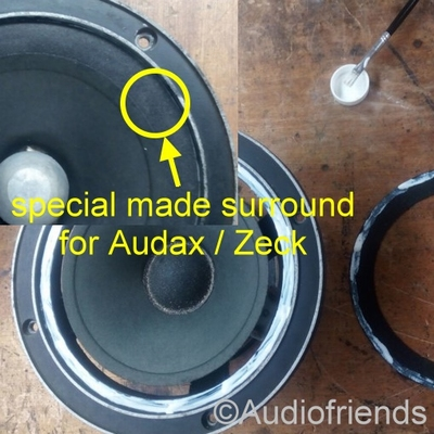 1 x Foam surround for repair Audax PR17, MHD17, HD17, PRD17