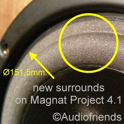Magnat Project 4.1 - Repairkit foam for repair woofers
