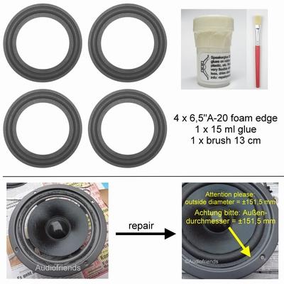 Magnat Project 4.1 - reparatieset foamranden luidspreker