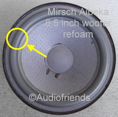 1 x Foam surround for repair Mirsch OM110 woofer - Kurt M.
