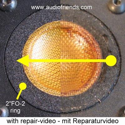 1 x Foamrand voor reparatie KRK 7000 tweeters Focal/JMlab