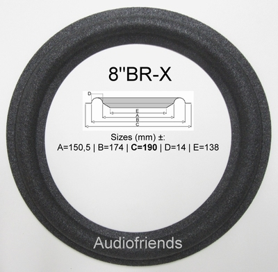 Braun L620 Repairkit foam surrounds for speaker