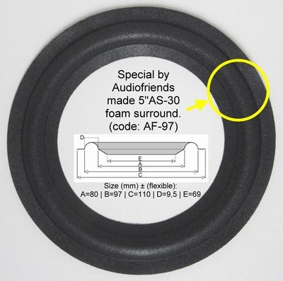5 Zoll SCHAUMSTOFF Sicke für Reparatur Lautsprecher