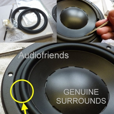 6 inch RUBBER Kurt Müller surround for Dynaudio 17W75