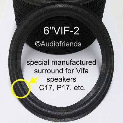 6 Zoll SCHAUMSTOFF Sicke für Reparatur VIFA Lautsprecher