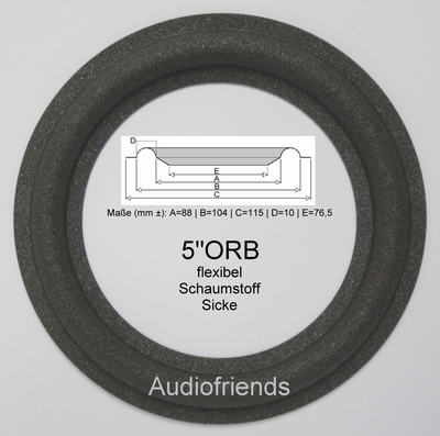 5 inch FOAM rand voor speaker reparatie