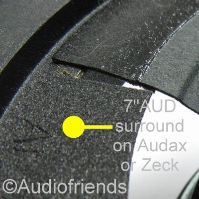 7 inch FOAM FLAT surround for speaker repair Audax/Zeck