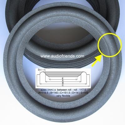 6,5 inch FOAM surround for speaker repair