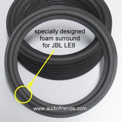 8 inch FOAM rand voor speaker reparatie JBL LE8