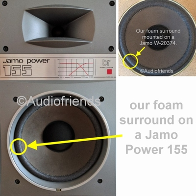 1 x Foam surround for repair Jamo Power 150, 155 woofer