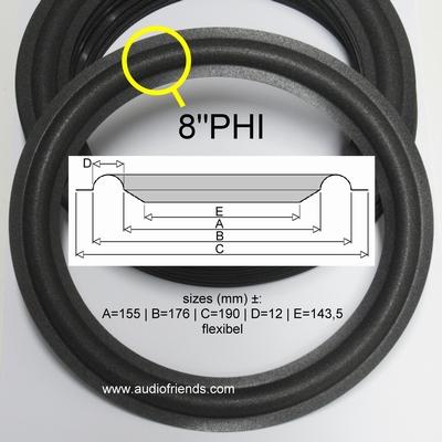 8 inch FOAM rand voor speaker reparatie