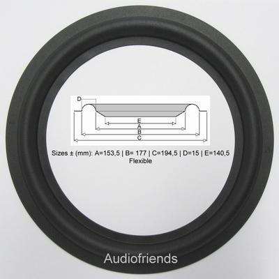 8 Zoll GUMMI Sicke für Reparatur Lautsprecher