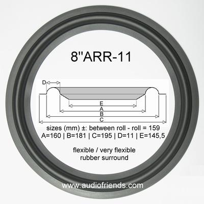 8 inch RUBBER rand voor speaker reparatie