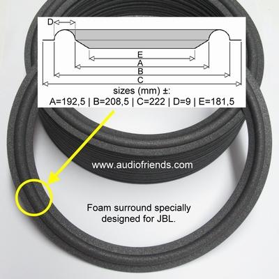 10 Zoll SCHAUMSTOFF Sicke für Reparatur JBL LE10