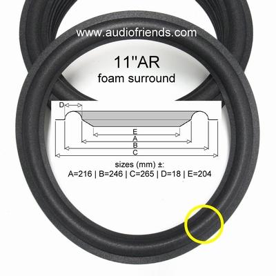 11 Zoll SCHAUMSTOFF Sicke für Reparatur Acoustic Research
