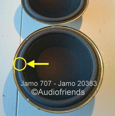 1 x Foamrand voor Jamo SW1, SW2, SWI, SWII basluidspreker