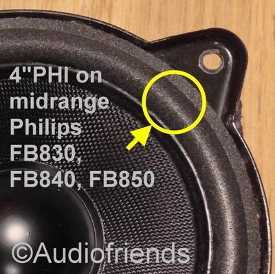 1 x Foam surround for midrange Philips FB830, FB840, FB850