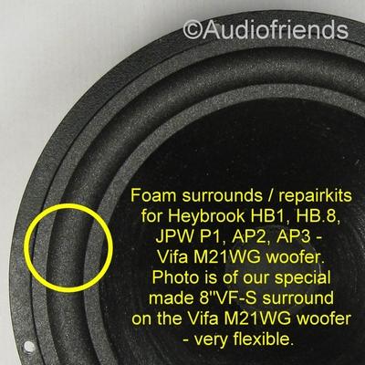 1 x Foamrand voor diverse Translater / Vifa M21WG speakers