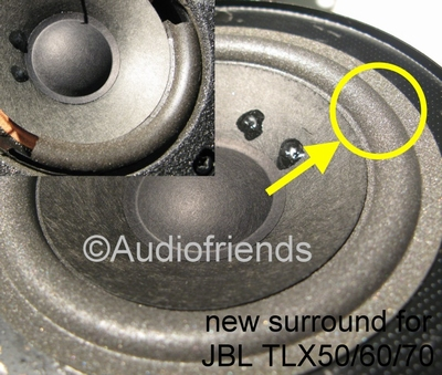 1 x Foam surround 4 inch for JBL TLX40, TLX50, TLX60, TLX70