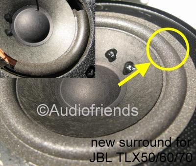 1 x Foamrand voor middentoner JBL TLX40, TLX50, TLX60, TLX70