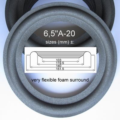 1 x Foam surround for repair JBL TLX120, A0206A - flexible