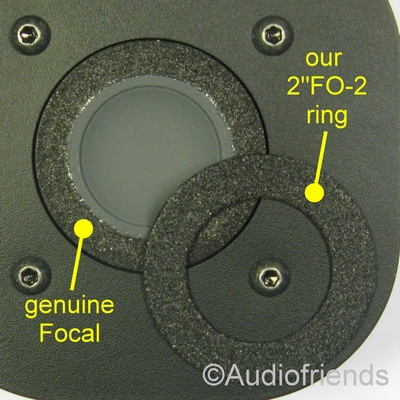 Focal T120-T101-T121-TC90K-T100K-T92 - 6x Foam ring tweeter