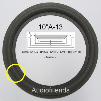 1 x Foam surround for various 10 inch Boston speakers.