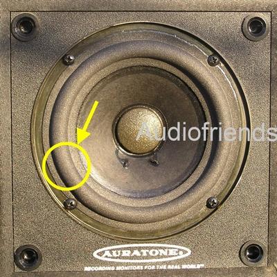 1 x Foamrand voor reparatie Auratone 5, 5c, Studio etc.