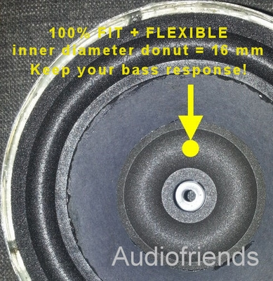 4 x Foam flexible dustcap ('donut') KEF RR104.2, RR103.4