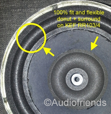 KEF RR103.4 - B160 - SP1275 - Repairkit foam surrounds
