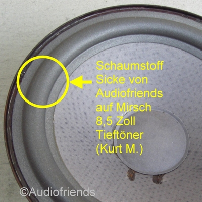 Mirsch OM 2-21 - 1x Foam surround Kurt Müller