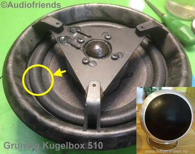 1 x Flexible foam surround Grundig 510 Kugelboxen