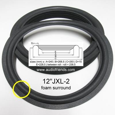 1 x 12 inch Foamrand voor JBL conus = ±237 - 241mm.