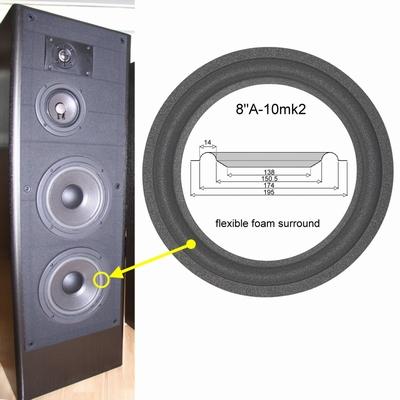 1 x Foamrand voor reparatie JBL LX45 - 408G