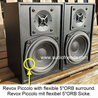4 x Schaumstoff Sicken Revox Piccolo  |  Stereolith Duetto