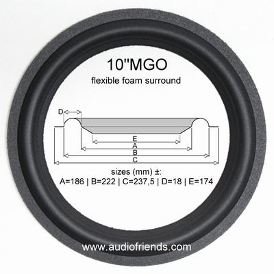 Revox Piccolo-Bass - 1x Foamrand (10 inch) woofer