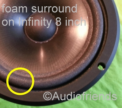 1 x Foam surround for repair Infinity Delta 3 woofer