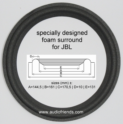1 x Foam surround for repair - JBL LE8, LE8T, 2108, 2115h