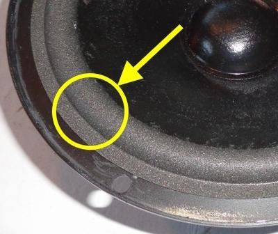 1 x Foamrand voor reparatie JBL TLX 45 - A0306