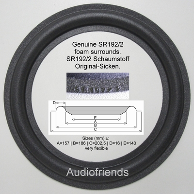 Dynaudio 8 inch (Kurt Müller SR192/2) - 1 x GENUINE surround