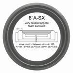 1 x Foam surround bass repair Tandberg TL 2520 - HT 157