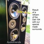 Dali 104 - 4 x Schaumstoff Sicke für Reparatur Lautsprecher